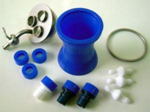 Троакар для единого лапароскопического доступа в разобранном виде